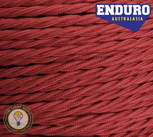 ENDURO Cable Twist 2-Core | 3-Core Burgundy - TheLightGuys