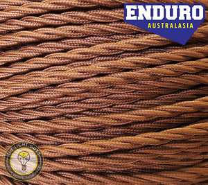 ENDURO Cable Twist 3-Core Brown - TheLightGuys