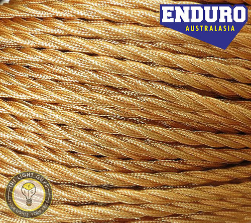 ENDURO Cable Twist 3-Core Gold - TheLightGuys