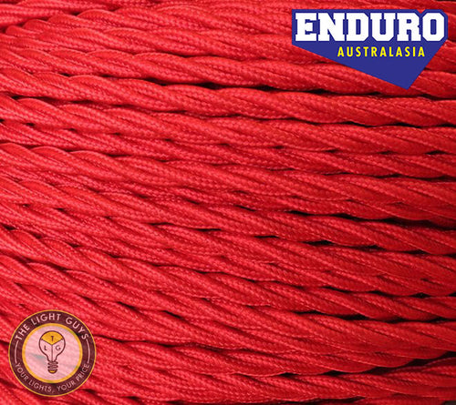 ENDURO Cable Twist 3-Core Red - TheLightGuys