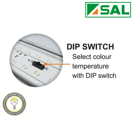 SAL LED Colour Switch Batten 40W 240V 3K/4K/6K IP65 1200mm | 600mm - TheLightGuys