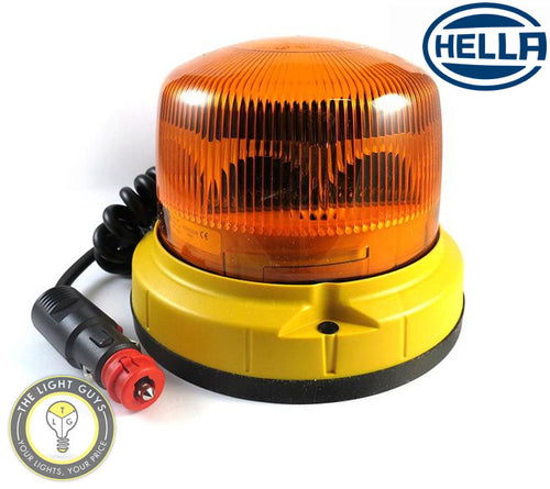 HELLA LED Warning Beacon Magnetic 9-30V Amber - TheLightGuys