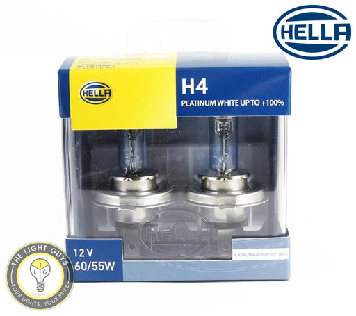 HELLA H4 Headlight Set 60/55W 12V P43t Platinum - TheLightGuys