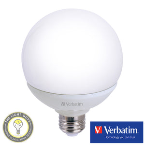 VERBATIM G125 13W Dimmable Globes 3000K - TheLightGuys
