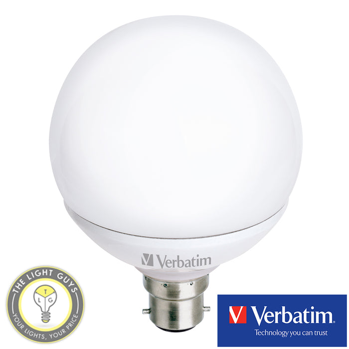 VERBATIM G125 12W/13W Non Dimmable/Dimmable Globes 3000K - TheLightGuys
