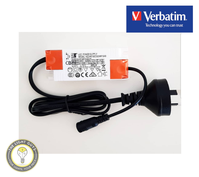 VERBATIM LED Driver Output 300mA (18W) | 1000mA (42W) with AU plug - TheLightGuys