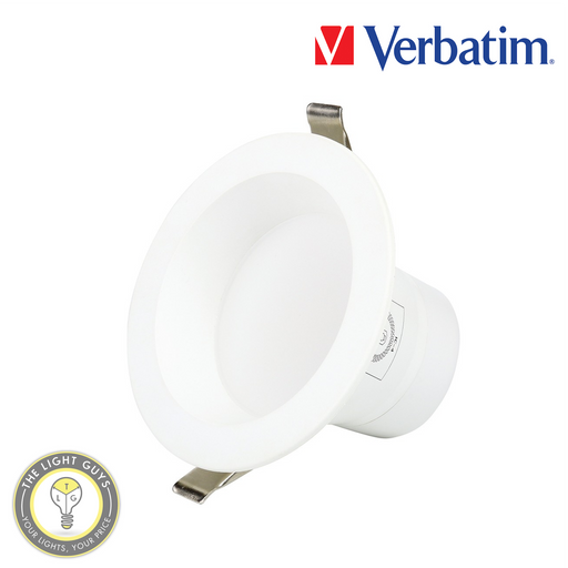 VERBATIM LED Intergrated Downlight (Deep Recessed Diffuser) 10W | 13W | 16W | 20W 240V Tri Colour IP54 90° Dimmable - TheLightGuys