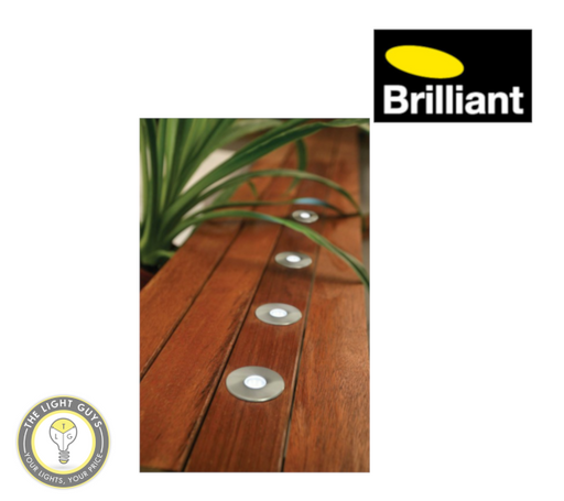 BRILLIANT LIGHTING Portsea LED 5 Light 50mm Round Deck Light Kit - TheLightGuys