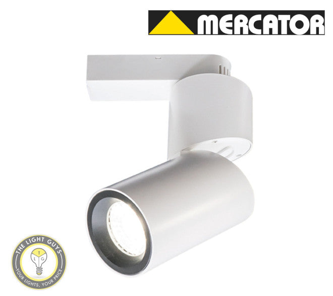 MERCATOR LED TRAX 15W Track Light 3000K White | Black Dimmable - TheLightGuys