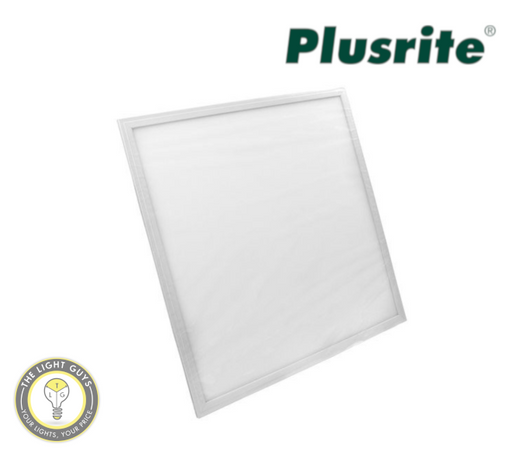 PLUSRITE LED Tri Colour Panel 240V White 595x595mm | 295x1195mm - TheLightGuys