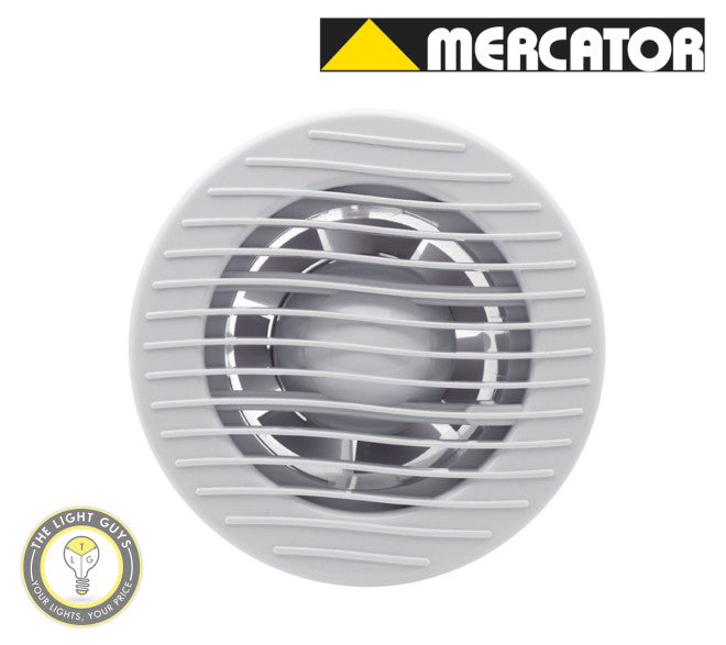 MERCATOR Archer Wall Exhaust 240V White/Cream Colour - TheLightGuys