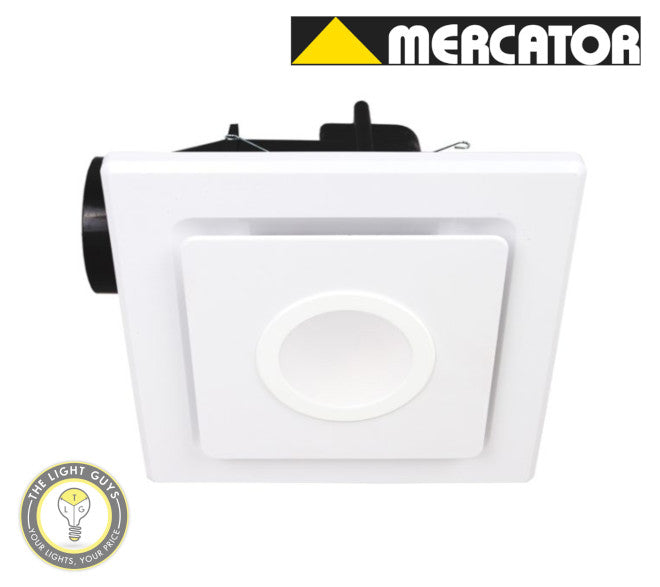 MERCATOR Emeline II 240 10W LED SQUARE Black | White - TheLightGuys