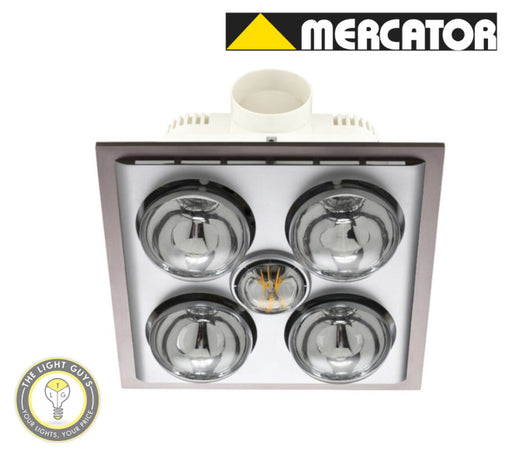 MERCATOR LED LAVA QUATTRO 3 in 1 Exhaust & heat light Silver | White - TheLightGuys