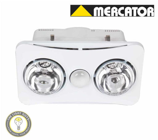 MERCATOR ARDENE DUO 3 in 1 Exhaust & heat light Halogen Silver | White - TheLightGuys