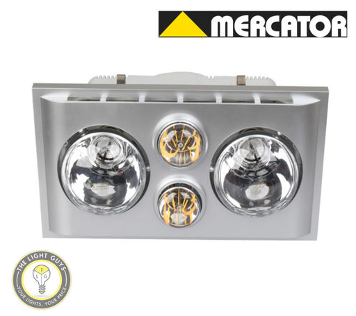 MERCATOR LED LAVA DUO 3 in 1 Exhaust & heat light Silver | White - TheLightGuys