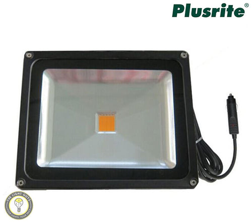 PLUSRITE LED Floodlight 30w 12v 5000k Car Plug - TheLightGuys
