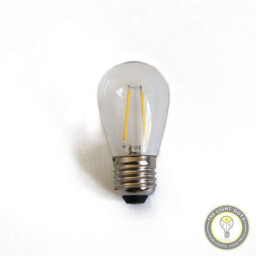 Replacement LED Filament Festoon Lamp 240v 2W Clear Warm White - TheLightGuys