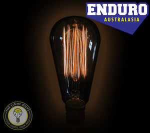ENDURO ST64 25w ES Carbon Filament Squirrel Cage - TheLightGuys