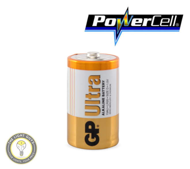 POWERCELL 1.5V UItra Alkaline D Size GP Battery - TheLightGuys