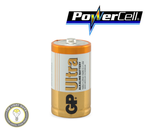 POWERCELL 1.5V UItra Alkaline C Size GP Battery - TheLightGuys
