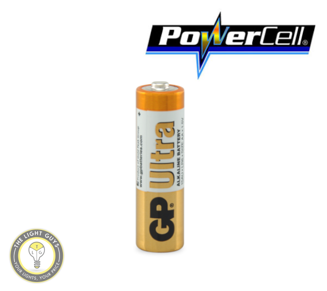 POWERCELL 1.5V UItra Alkaline AA Size GP Battery - TheLightGuys