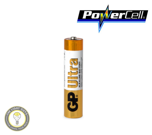 POWERCELL 1.5V UItra Alkaline AAA Size GP Battery - TheLightGuys