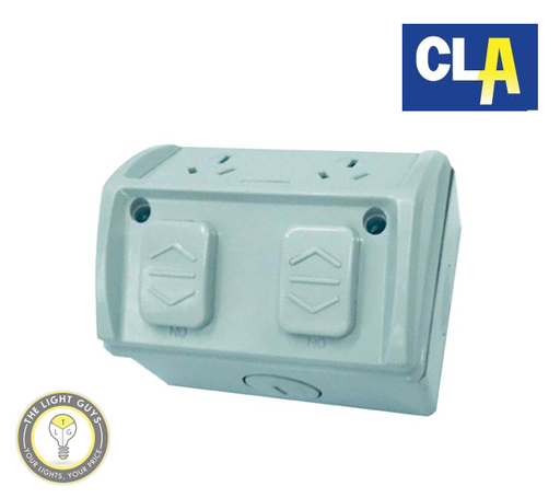 CLA Weatherproof Surface Sockets 250V 10A Single | Double - TheLightGuys