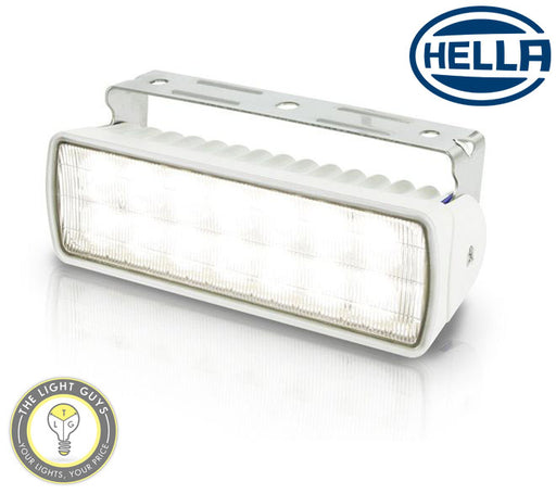 HELLA Marine Sea Hawk XLR LED Deck Floodlight 18W 9-33V 5000K White | Black | Spread | Spot - TheLightGuys