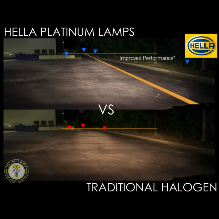 HELLA H3 Headlight Set 55W 12V PK22s Platinum - TheLightGuys