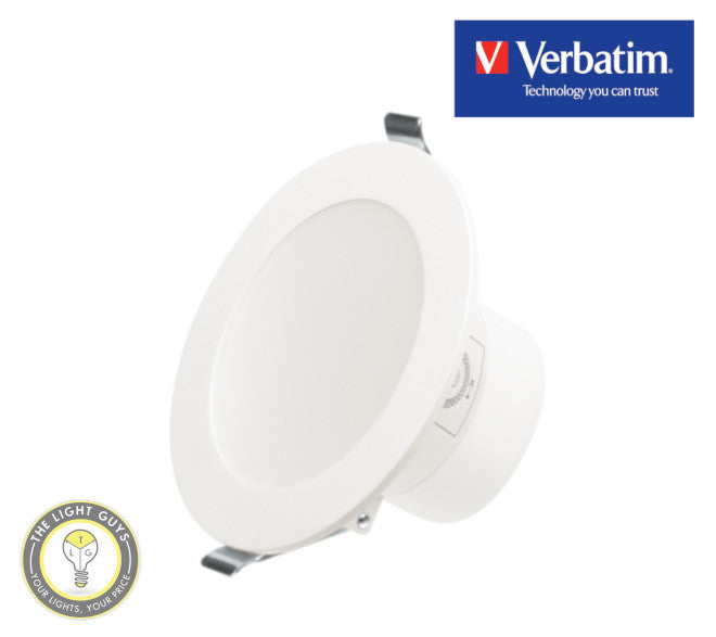 VERBATIM High output Downlight 92mm Tri Colour 3K/4K/5.7K 10W 90mmØ Dimmable - TheLightGuys