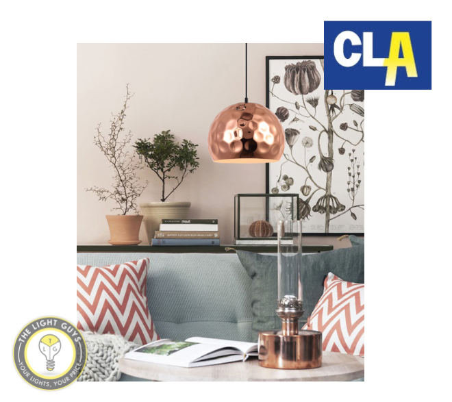 CLA Copper Plated Pendant Lights (Globe not included) - TheLightGuys