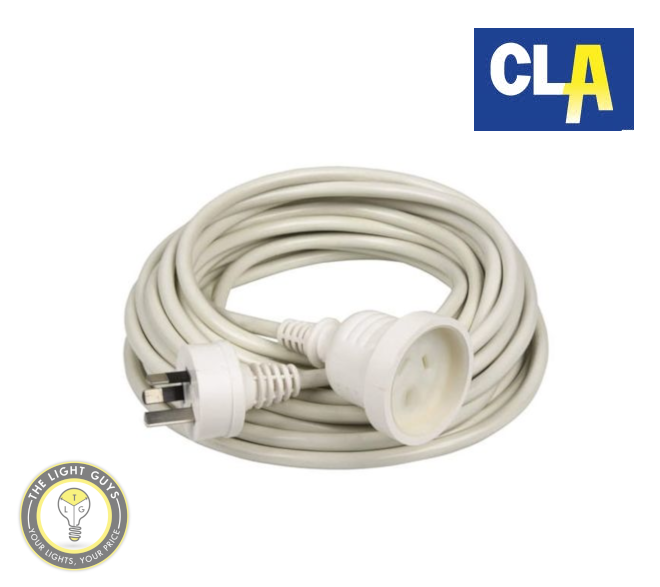 CLA Extension Lead White 10A 2M | 5M | 10M - TheLightGuys