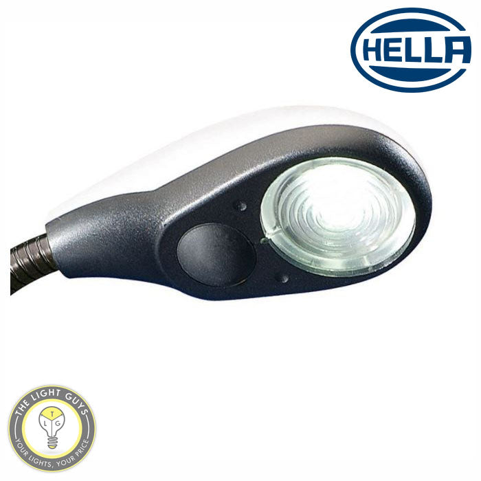 HELLA LED 150mm White | Black cover Flexible Interior Lamp 2w 9-31v 4K | Red - TheLightGuys