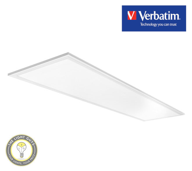 VERBATIM LED Slim Panel 1195x295mm 40W 4000K | 5000K 4000lm - TheLightGuys
