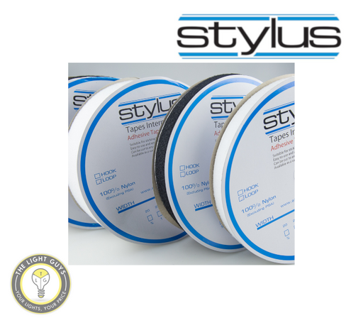 STYLUS 3422 50mm x 25M Loop tape (Adhesive backed) White - TheLightGuys
