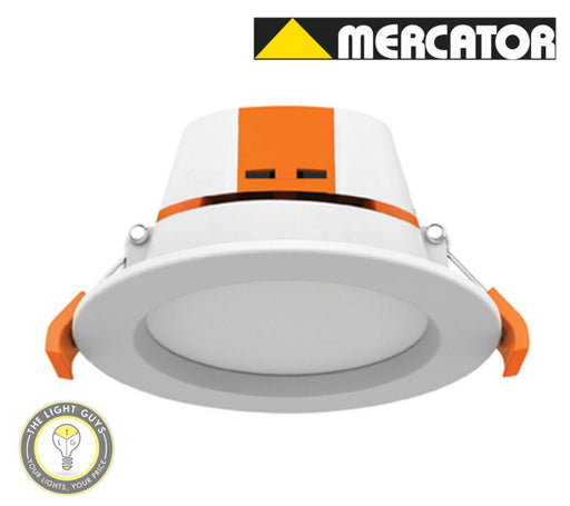 MERCATOR APOLLO LED Downlight 9W Tri Colour 3K/4K/5K 100deg 92mmØ Dimmable - TheLightGuys