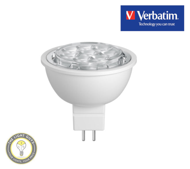 VERBATIM LED MR16 GU5.3 6W 3000K | 4000K 36deg° Non Dimmable - TheLightGuys