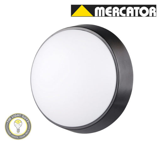 MERCATOR LED Fletcher 10W White & Black Frame Oval | Round - TheLightGuys