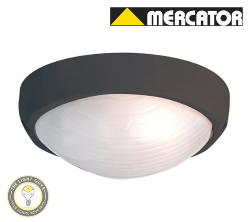 MERCATOR Fiore E27 60W Oval Bunker Light - Black | White - TheLightGuys