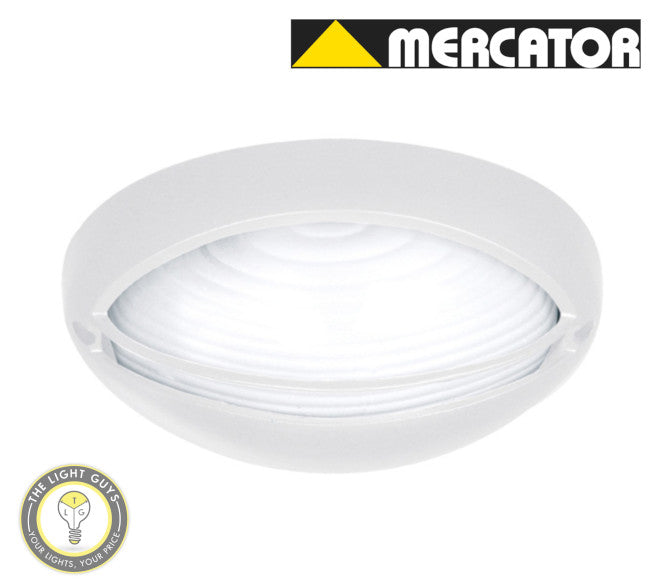 MERCATOR Fiore E27 60W Oval Bunker Light - Black | White EYELID - TheLightGuys