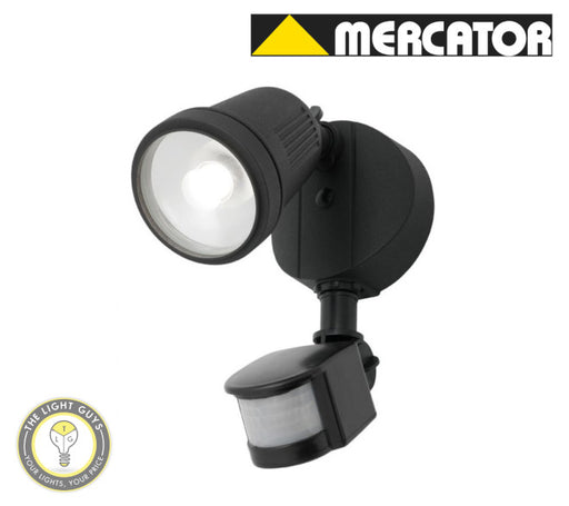 MERCATOR OTTO (WITH PIR SENSOR) 1X12W 4000K Black | Silver | White - TheLightGuys