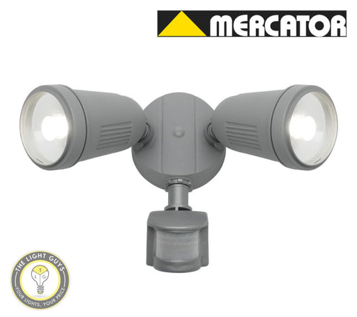 MERCATOR OTTO (WITH PIR SENSOR) 2x12W 4000K Black | Silver | White - TheLightGuys