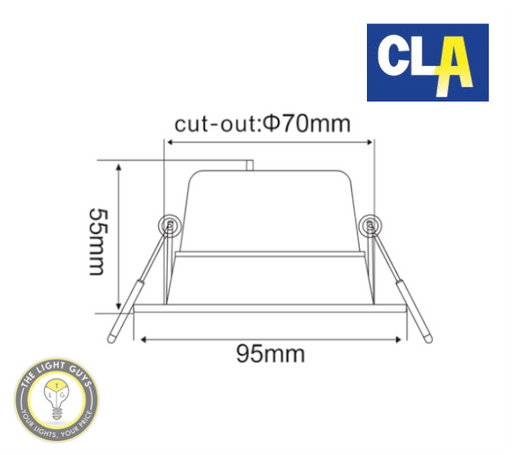 CLA NOVAMULTI LED Tri-CCT Starlight 7W IP44 Cutout Ø70mm - TheLightGuys