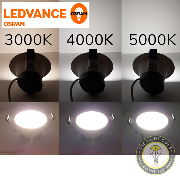 OSRAM LEDVANCE Superstar Downlight 8W 240V Tri Colour 3K/4K/5K 92mmØ Dimmable - TheLightGuys