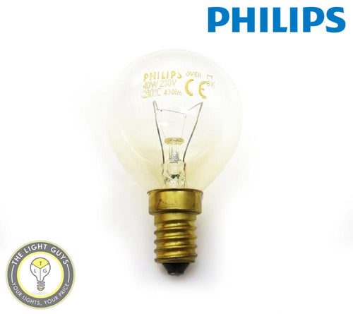 PHILIPS Oven Lamp Fancy Round 40w SES 300degree - TheLightGuys