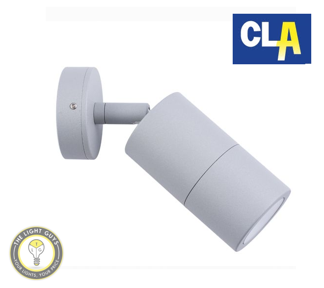 CLA GU10 Exterior Wall Semi Adjustable Pillar Lights Black | Matt Grey | White | Silver - TheLightGuys