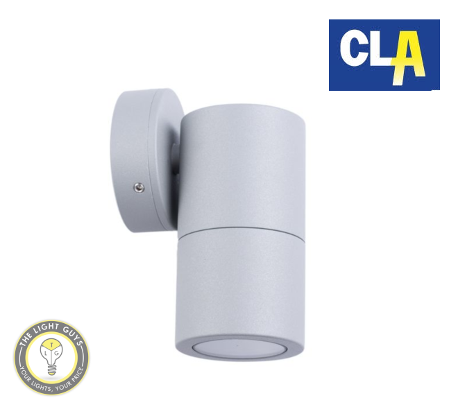 CLA GU10 Exterior Wall Fixed Pillar Lights Black | Matt Grey | White | Silver - TheLightGuys