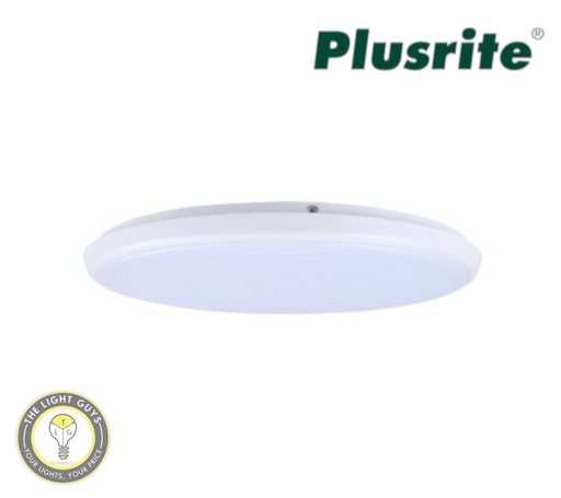 PLUSRITE LED Oyster 12W | 18W | 28W 240V Tri Colour 3K/4K/5K 250mm | 300mm | 400mmØ Dimmable - TheLightGuys