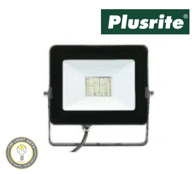 PLUSRITE LED Budget DIY Floodlight 20W IP65 110° 1600lm - TheLightGuys