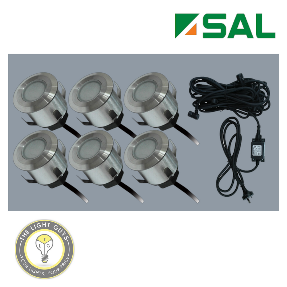 SAL 6 LED deck light kits 240V Ø35mm IP65 3000K | 5000K